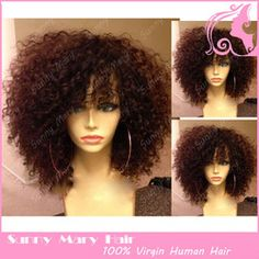 Online Shop Freeshipping 200 density Front Lace wigs/Full lace wigs Brazilian Virgin human hair with baby hair around for black women|Aliexpress Mobile