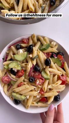 Veggie Recipes, Salad Recipes, Vegetarian Recipes, Dinner Recipes, Cooking Recipes, Healthy Recipes, Simple Pasta Recipes, Healthy Pasta Dishes, Plats Healthy