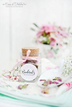 Badesalz mit Rosenblüten I Hochzeit I Gastgeschenk I Casa di Falcone