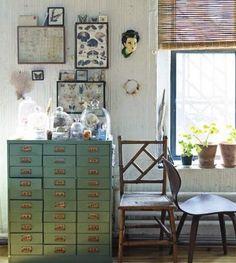 Sibella Court {eclectic industrial rustic study /studio / living room}
