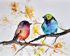 Original watercolor painting on acid free paper. Handpainted, NOT a print. Size: 15x20 CM / approx: 6x8 Inch Signed on the front. I invite you to view more of my paintings here: https://www.etsy.com/shop/ArtCornerShop # PLEASE NOTE - I ship from EUROPE ! # This painting will be shipped WITHOUT a tracking number by regular Airmail Post. Please expect 2-3 weeks delivery time to USA and Canada and up to a month to Australia. Please contact me with any questions.