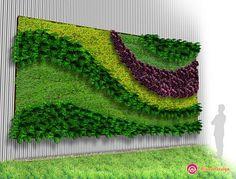Vertical Farming, Going Up Instead Of Sideways Vertical Green Wall, Vertical Garden Design, Moss Wall Art, Moss Art, Artificial Plant Wall, Vertical Farming, Walled Garden, Wall Design, Flower Arrangements