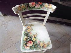 Купить Стул « Весеннее настроение» - стул, стульчик, винтаж, шебби шик, прованс, ретро