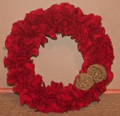 We're Better Together... you and me: Burlap Wreath Tutorial