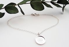 Sterling Silver Fingerprint Shadowbox Charm Bracelet by RebeccaGeoffrey on Etsy Fingerprint Jewelry, Shadow Box, Pendant Necklace, Sterling Silver, Trending Outfits, Unique Jewelry, Bracelets, Handmade Gifts, Etsy