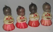 VINTAGE 1950 GURLEY CHRISTMAS CHOIRBOY CANDLES BLACK AMERICANA Retro Christmas, White Christmas, Christmas Time, Christmas Gifts, Xmas, Christmas Ornaments, Vintage Santas, Vintage Toys, Christmas Candles