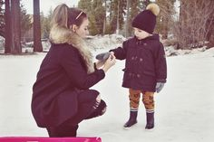 My Love and Beyond - Mommy & Baby Fashion Blog: Mason's first time sledding - South Lake Tahoe