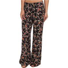 Billabong Glass Petal Beach Pant Women's Casual Pants, Black ($18) ❤ liked on Polyvore