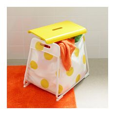 GLOTTEN Storage stool IKEA The storage bag is a convenient place to hide children's toys.