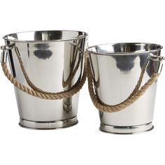 2-Piece Stainless Steel Ice Bucket Set  at Joss and Main