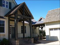 Gable Entry Porch   Porches, Porticos, Entranceways and other Exterior Timber Frame ...