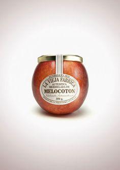 la-vieja-fabrica-jam-peach.jpg ジャムのおいしさをダイレクトに伝えるパッケージデザイン「Jam La Vieja Fabiba」:DesignWorksArchive