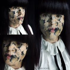 Day9 of my #31daysofhalloween #cracked #doll #face   #halloween #halloweenmakeup #halloweenmakeupideas #amazing #beautiful  #facepainting #bodypainting #artist #bobbibicker #london