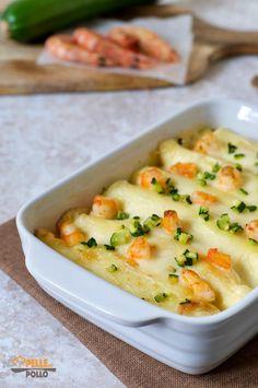 cannelloni di crepes gamberi e zucchine