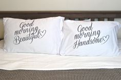NEED!! <3  Couple pillow couple set of 2 pillow cases  by theprintedsurface, $25.00