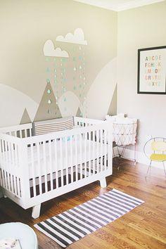 Bergsilhouette im Babyzimmer. Sehnsucht, Schööön!