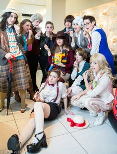 Eleven Ladies, Eleven Doctors, One Awesome Cosplay Group → I'm a tad confused with some of them but the majority are ace!