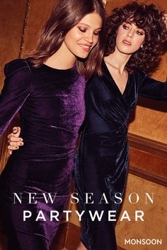 When darkness falls, it's time to dazzle. Turn heads in sumptuous velvets and glittering details this party season.