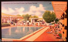 Pool at Hotel Last Frontier, Las Vegas, Nevada.  Until the seventies most casinos in Vegas had a two story motel attached.