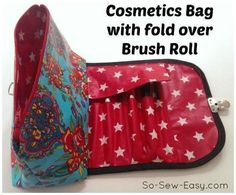 Cosmetics bag and brush roll | Craftsy