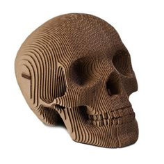 Interesting!!! Human Skull made out of Brown Cardboard now featured on Fab.
