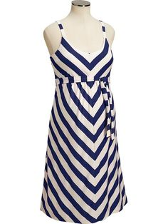 Old Navy Maternity Chevron Stripe Tank Dress