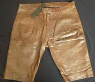 """BNWT Popissue Julio Men's Tailored Fully Lined Brown Leather Walking Shorts W30"""""""