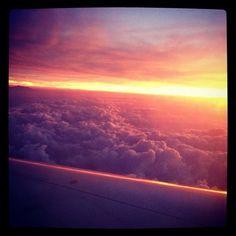 Atardecer sobre el cielo de México