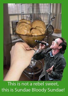 Sundae Bloody Sundae! Or, alternately, Guinness Ice Cream with Bailey's Sauce