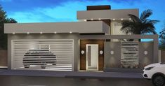 Modern Fence Design, Modern House Design, Modern Exterior, Exterior Design, Modern House Facades, House Gate Design, Modern Architects, House Built, Facade House