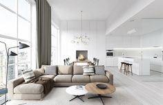 Clean Beachy Living Room With White Theme Look Modern And Luxury Realizing Your Dream with Modern Living Room Ideas living room