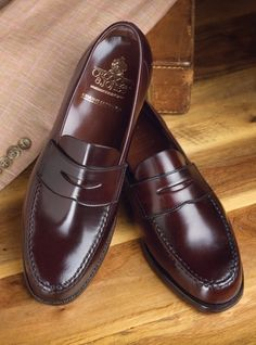 The Harvard Loafer in Burgundy Cordovan...I used to wear them at High school in the colours bordeaux, brown and black.