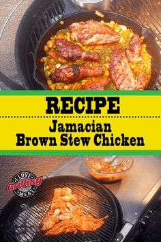 Sweet, salty & spicy all at once: this Jamaican brown stew chicken recipe is rich in flavor and definitely an all-time favorite. Smoked Chicken Recipes, Stew Chicken Recipe, Jamaican Brown Stew Chicken, Thursday, Spicy, Grilling, Beef, Cooking, Travel