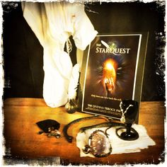Yesterday, I helped out on a professional photo shoot for The StarQuest (book & screenplay by Mark David Gerson). Here's my Hipstamatic take on The StarQuest setup. http://markdavidgerson.com/books/starquest
