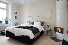 Bedroom Home Ideas Pretty Bedroom, Gray Bedroom, Master Bedroom, Bedroom Decor, Bedroom Ideas, Scandinavian Bedroom, Scandinavian Interior Design, Scandinavian Style, Small Bedroom Designs