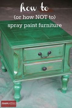 How to Spray Paint Furniture- really good hints!