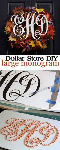 How To Make a Large Monogram Cutout The Easy Way - In My Own Style