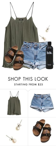 """Tennis practice today"" by flroasburn ❤ liked on Polyvore featuring H&M, Levi's, J.Crew and Birkenstock"