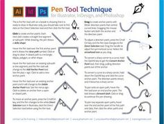Adobe Pen Tool Technique for Photoshop, Illustrator, and InDesign