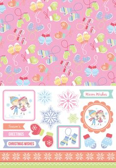 These adorable festive skating papers can be downloaded free from the Papercraft Inspirations magazine website!
