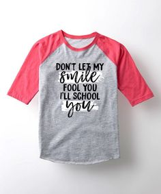 Athletic Heather & Pink 'School You' Raglan Tee - Toddler & Girls