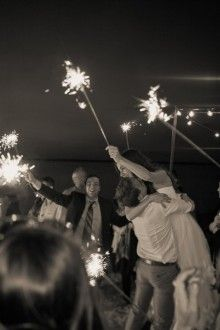 A 4th of July wedding with sparklers