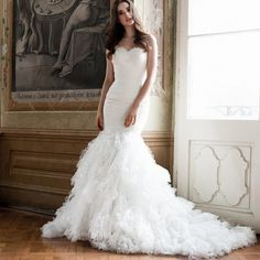 2016 Sexy Mermaid Wedding Dresses Sweetheart Cap Sleeves Backless Lace Tulle Chapel Train Wedding Gowns Western Wedding Dresses Bridal Dresses 2015 From Wholesalefactory, $176.77| Dhgate.Com