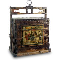 40 in. Vintage Wooden Chinese Wedding Trunk at the Foundary