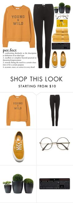 """""""When you feel bad, do not say it's the worst time of your life. Who knows, maybe it will be even worse? Just kidding!"""" by holly-k15 ❤ liked on Polyvore featuring MANGO, Acne Studios, Vans, Logitech and Christy"""