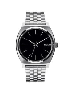 Nixon Time Teller Silver Watch with Steel Bracelet | The Idle Man