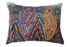 Appliquéd Indian   Pillow