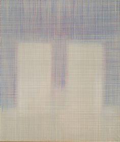 El color y la luz están dispuestos de manera que a veces son contrarios, y a veces semejantes,1985 Acrílico sobre lienzo 220x186cm Colección Ayuntamiento de Albacete.