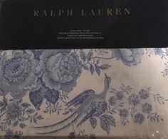 Ralph Lauren Dauphine Archival Collection KING DUVET White Blue Floral Birds NEW 886087229981 | eBay