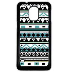 Aztec blue and white mayan tribal retro vintage geometric print pattern Phone case cover for Samsung Galaxy S5